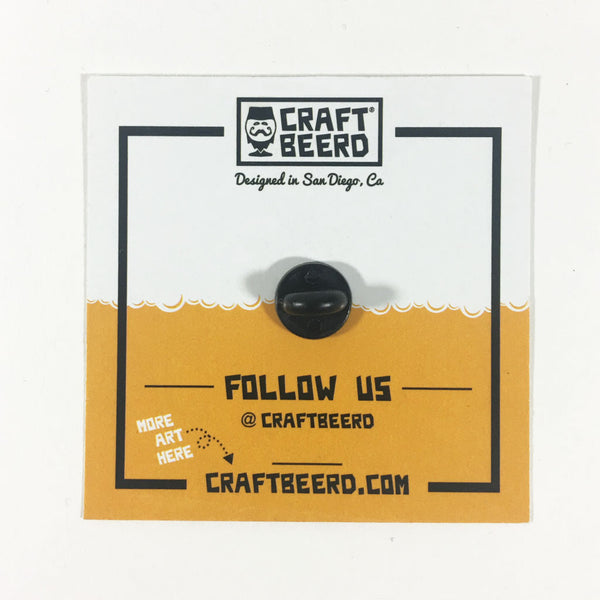BEER PIN - CRAFT BEERD® (VERTICAL) LOGO - Craft Beer T-Shirts, Beer Art and Beer Gifts | CRAFT BEERD ® - 2