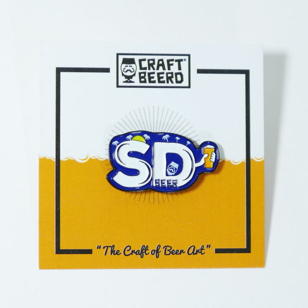 BEER PIN - SAN DIEGO BEER - Craft Beer T-Shirts, Beer Art and Beer Gifts | CRAFT BEERD ® - 2