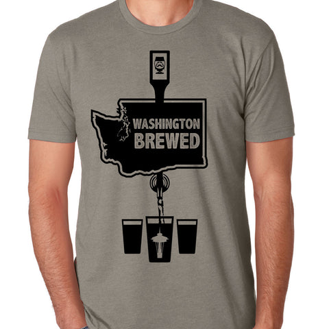 "CRAFT BEER T-SHIRT (MEN'S) - ""WASHINGTON BREWED"" 