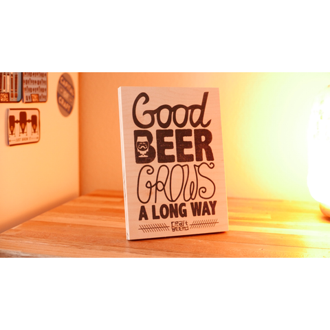 "WOOD - ""GOOD BEER GROWS"" - Craft Beer T-Shirts, Beer Art and Beer Gifts 