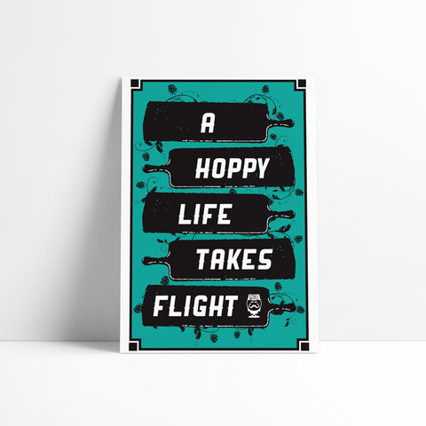 "PRINT - ""A HOPPY LIFE TAKES FLIGHT"""