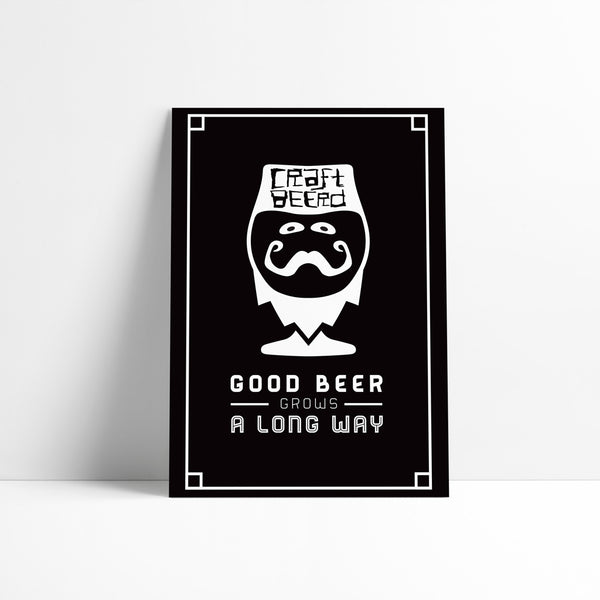 "PRINT - ""GOOD BEER GROWS"""