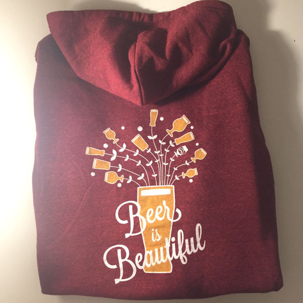 "HOODIE - ""BEER IS BEAUTIFUL"" 
