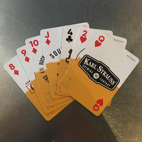 SAN DIEGO BREWERY PLAYING CARDS