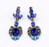 Blue Emerald Earrings