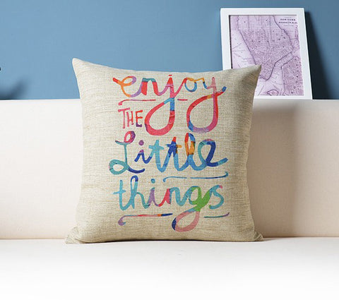Enjoy the Little Things Pillow