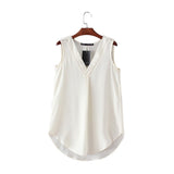 Eyelet Sleeveless Blouse (more colors)