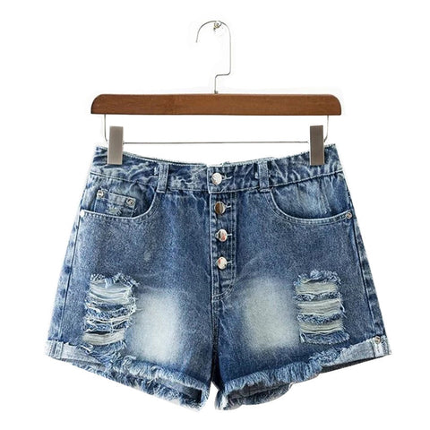 All Ripped Up Denim Shorts