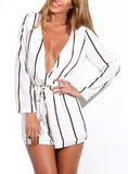 Stripe You Up Romper