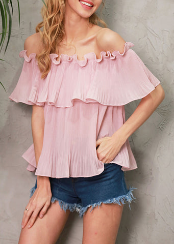 Juniper Whisper Off Shoulder Blouse