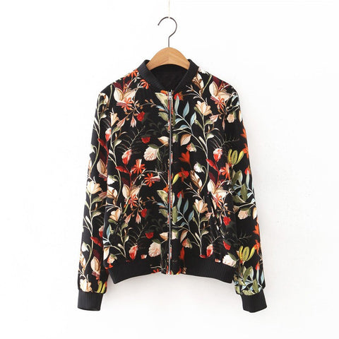 Floral Breeze Bomber