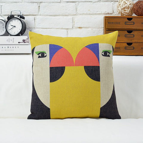 Kissing Birds Pillow