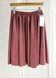 Lucy Faux Leather Skirt (Cranberry)