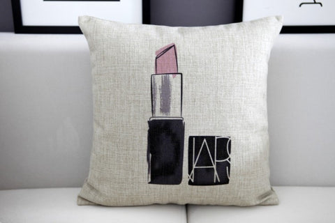 Pink Lipstick Pillow