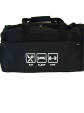 Load image into Gallery viewer, Apollo Sports Bag Black with Printed Design
