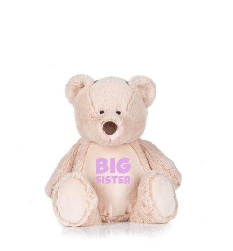 Personalised Big Sister Teddy Bear. Big Sister gifts from new baby