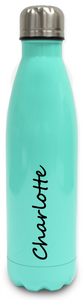 Personalised Stainless Steel Water Bottle  Insulated - Mint Green
