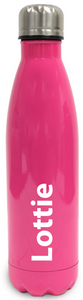 Personalised Stainless Steel Water Bottle  Insulated - Rose Red