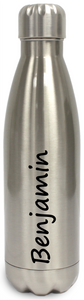 Personalised Stainless Steel Water Bottle  Insulated - Silver