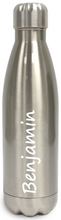 Load image into Gallery viewer, Personalised Stainless Steel Water Bottle  Insulated - Silver