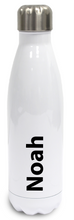 Load image into Gallery viewer, Personalised Stainless Steel Water Bottle  Insulated - White