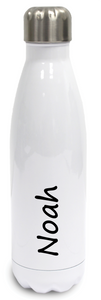 Personalised Stainless Steel Water Bottle  Insulated - White