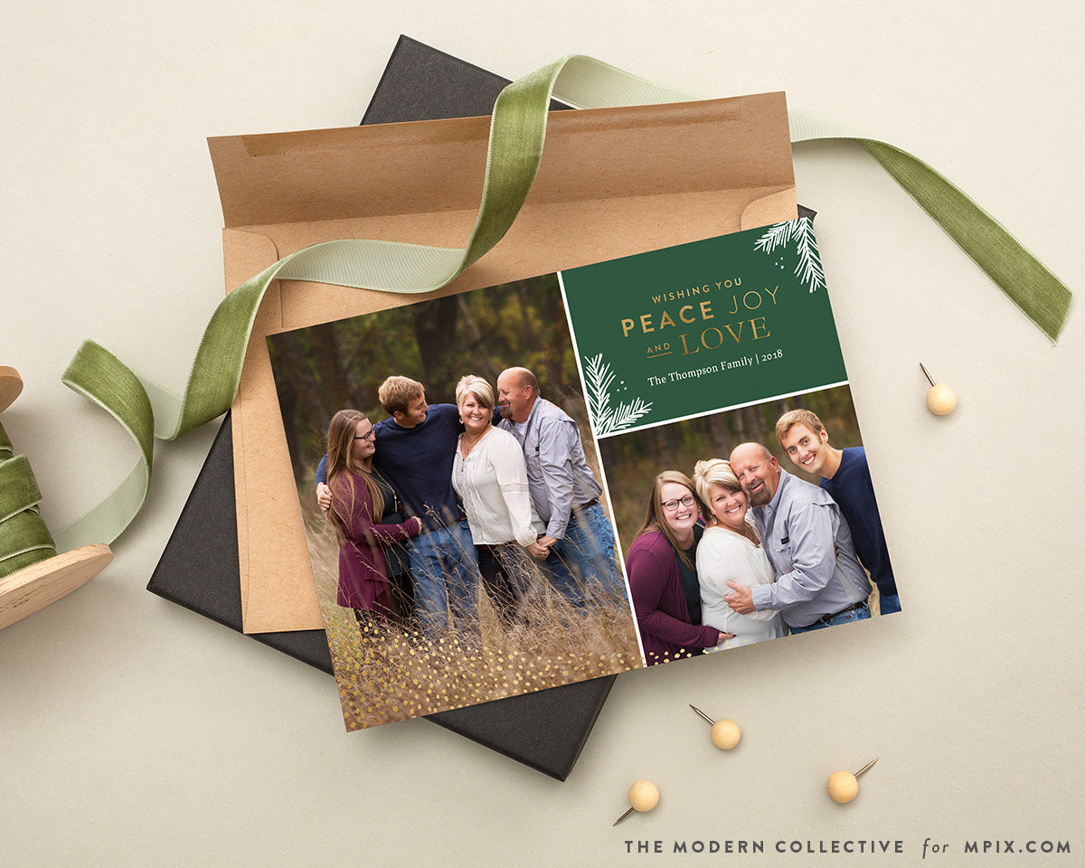 Heaping Joy and Love Photo Holiday Card for Mpix