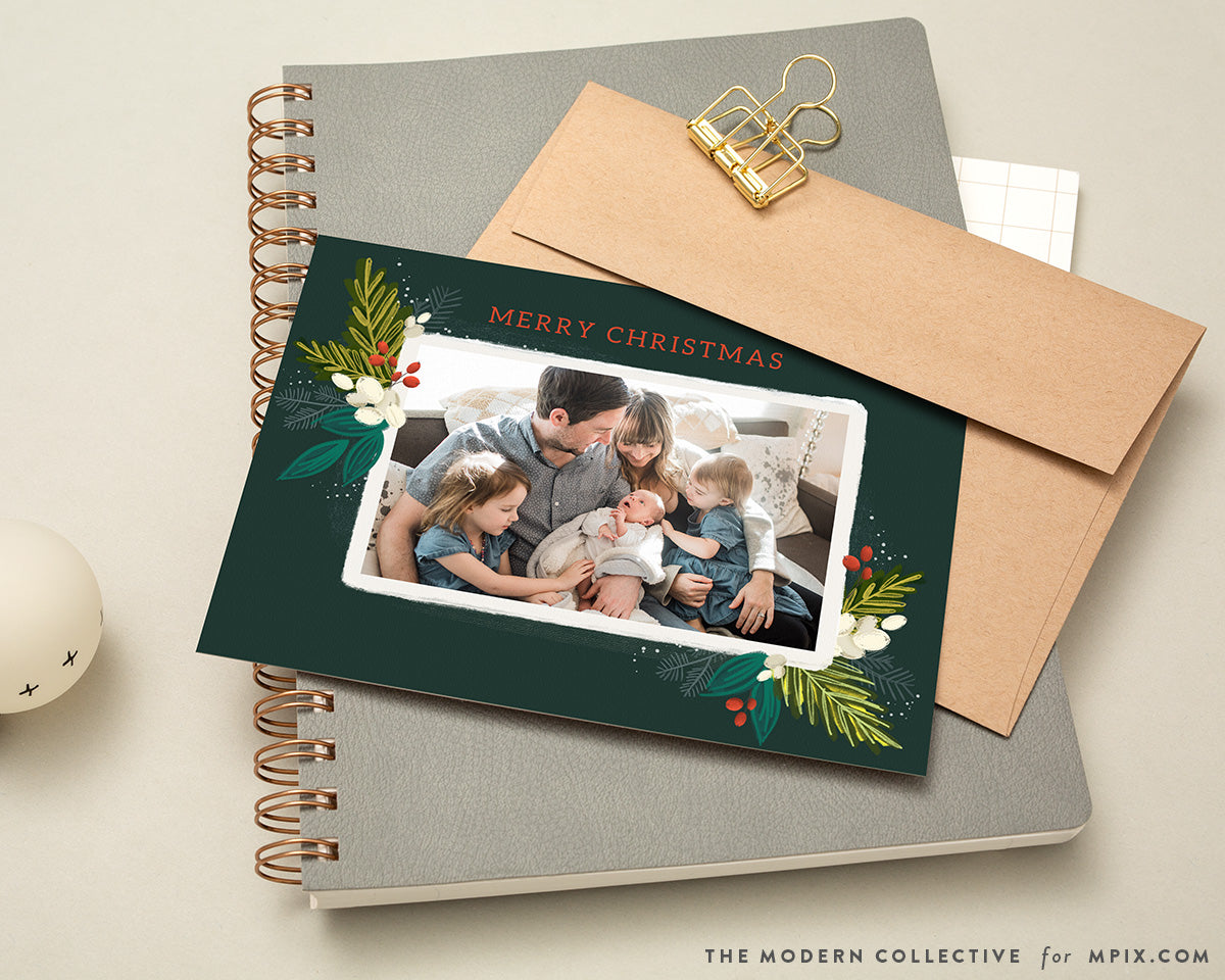 Heritage Crest Illustrated Christmas Card