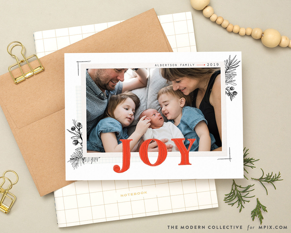 Joy Draft Christmas Photo Card for Mpix