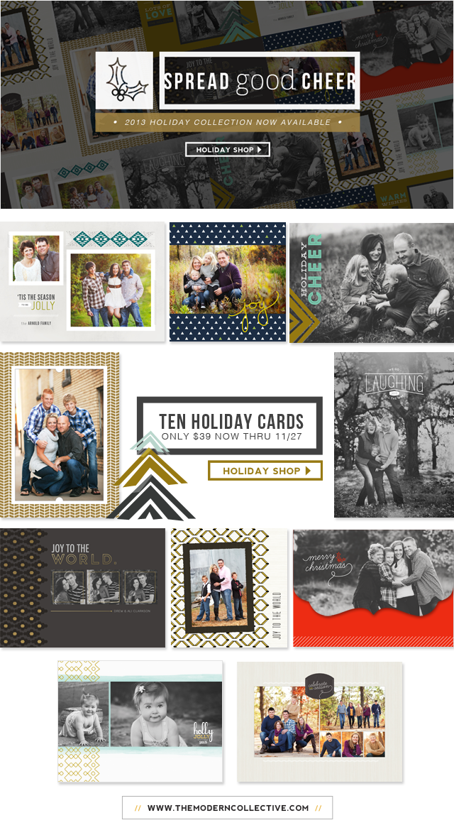 b90f3f70ddbfa8  Tis the season to spread good cheer in STYLE with the 2013 Holiday Card  Collection from The Modern Collective! The collection includes numerous  styles and ...