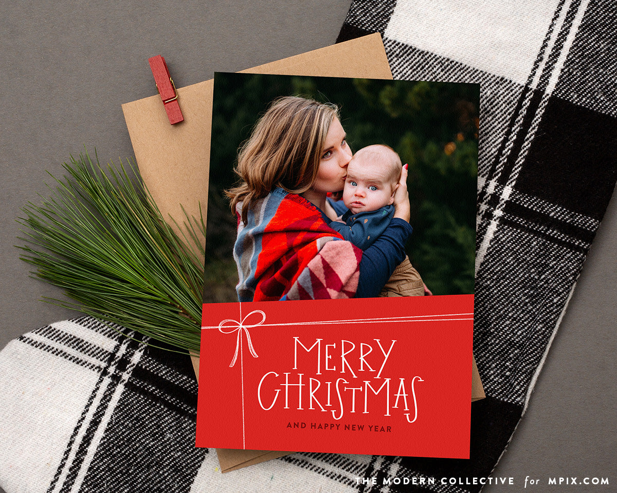 Wrapped in Love Photo Christmas Card for Mpix