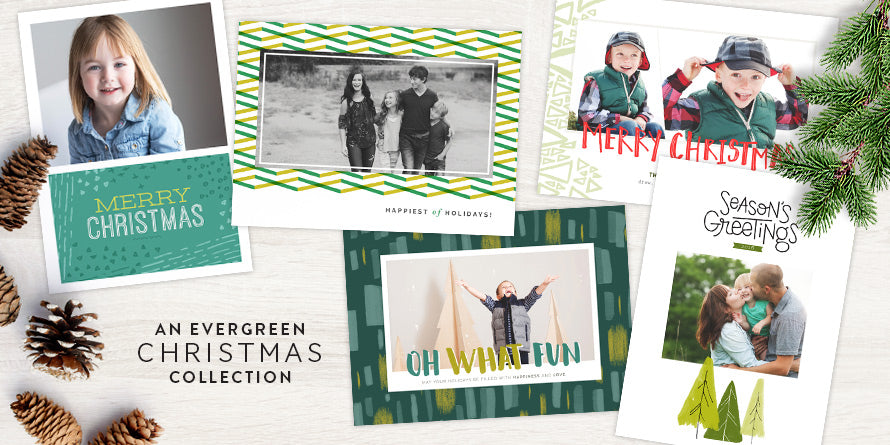 An Evergreen Christmas Holiday Card Collection