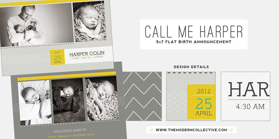 Call Me Harper // Birth Announcement