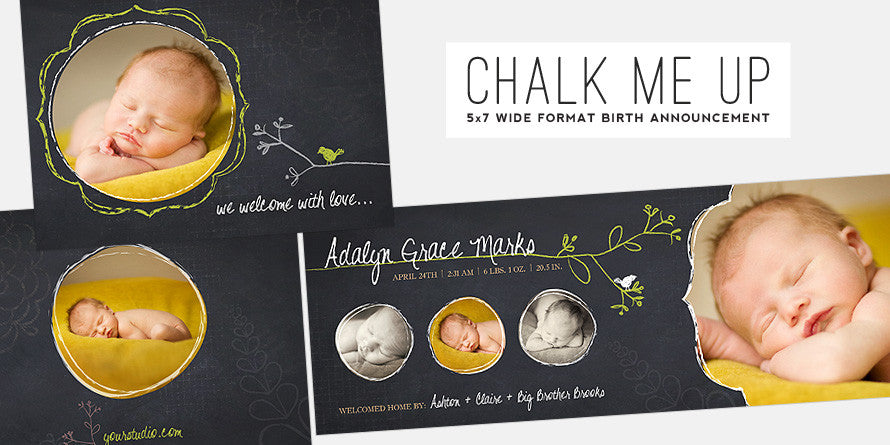 Chalk Me Up // Birth Announcement