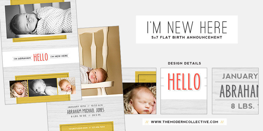 I'm New Here // Birth Announcement