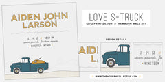Love S-Truck // Nursery Wall Art