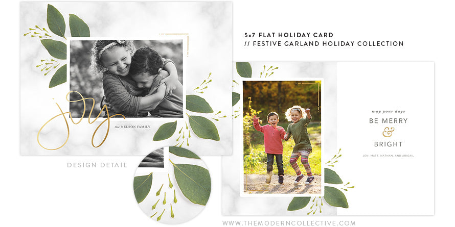 Festive Garland Holiday Card Collection