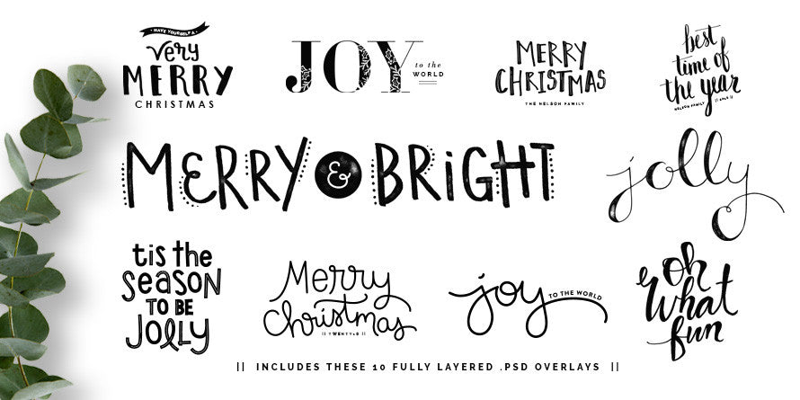 Merry Sentiments Holiday Overlays
