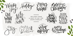 Merry Sentiments Holiday Overlays V2