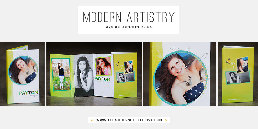 Modern Artistry // 4x8 Accordion Book