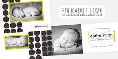 Polkadot Love // Birth Announcement