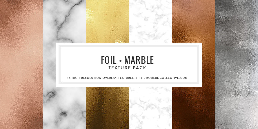 Gold Foil + Marble Texture Pack