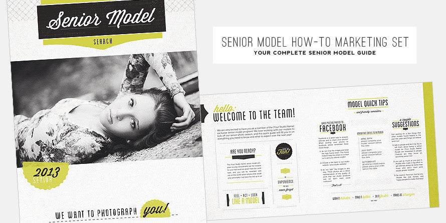 Senior Model How-To Marketing Set