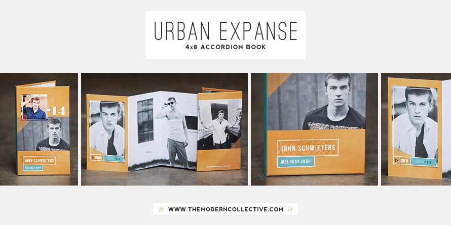 Urban Expanse // 4x8 Accordion Book