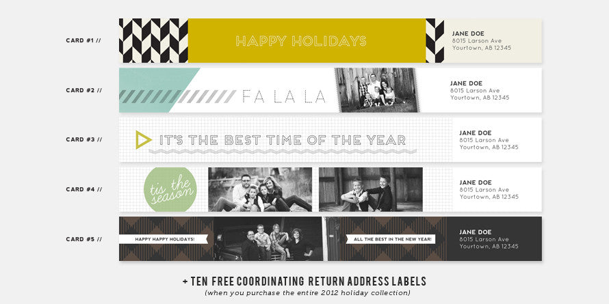 2012 Holiday Card Collection