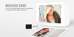 Brushed Grad // Slide Print Box + Acrylic USB Drive