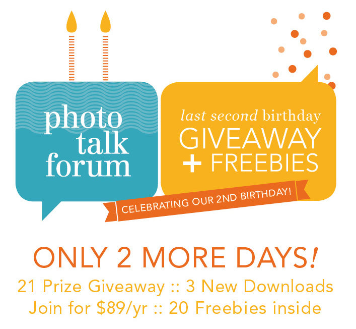 It's a Giveaway | Photo Talk Forum's 2nd Birthday | The Modern