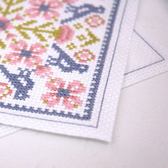 64ef207ded Stitch the same backstitch border on the back piece of your ornament. This  creates your sewing edge for assembling.