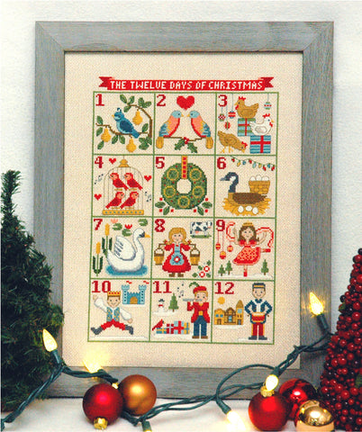 12 Days of Christmas Cross Stitch Pattern Instant Download