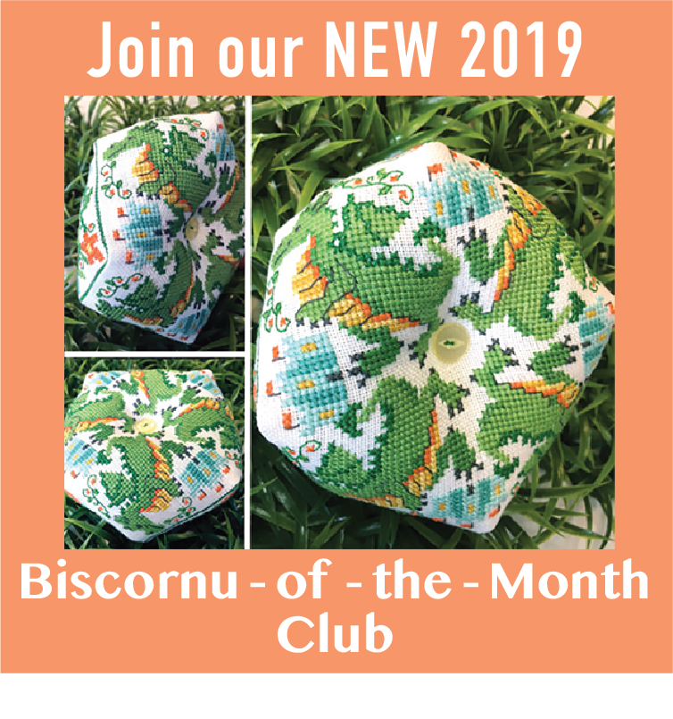 2019 Biscornu of the Month Club - Fantasy Series Cross Stitch Patterns